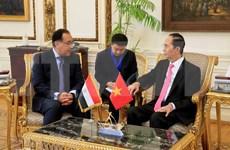 Egipto dispuesto a favorecer inversión y negocios de empresas vietnamitas