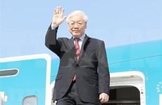 Máximo dirigente partidista de Vietnam viaja a Hungría para visita oficial