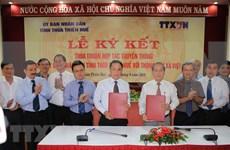 VNA y provincia centrovietnamita firma acuerdo de cooperación en la comunicación