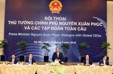 Premier vietnamita dialoga con líderes de corporaciones globales