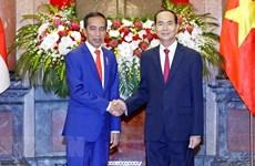 Presidente de Indonesia concluye visita estatal a Vietnam