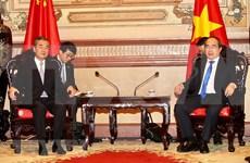 Dirigente de Ciudad Ho Chi Minh recibe al consejero de Estado chino