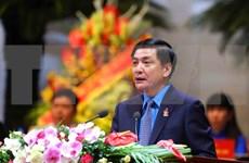 Dirigentes asisten a sesión solemne del XII Congreso Sindical de Vietnam