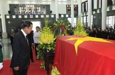 Rinden delegaciones extranjeras homenaje póstumo al presidente vietnamita Tran Dai Quang