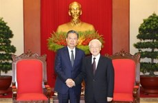 Máximo dirigente partidista de Vietnam destaca relaciones con China
