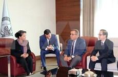Presidenta de la Asamblea Nacional de Vietnam arriba a ciudad turca de Estambul