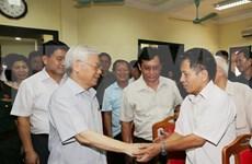 Dirigente partidista de Vietnam escucha propuestas de electores para próximas sesiones parlamentarias