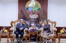 Dirigente partidista de Vietnam sugiere a Parlamento de Laos perfeccionar marco legal para cooperación bilateral