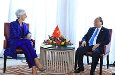Jefe de gobierno de Vietnam se reúne con directora del FMI en Bali