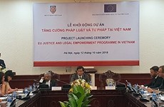 Vietnam coordina con Unión Europea para mejorar sistema legal y jurídico nacional