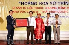 Antiguo registro diplomático de Vietnam recibe título de patrimonio documental mundial
