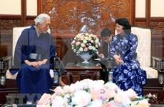 Presidenta interina de Vietnam recibe al gran maestro del Té de Escuela Urasenke