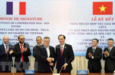 Ciudad vietnamita y metrópoli francesa firman acuerdo de cooperación
