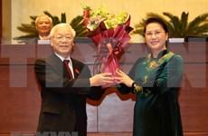 Presidente y dirigentes partidistas de la India congratulan al nuevo jefe de Estado de Vietnam