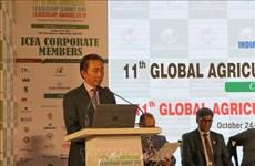 Vietnam participa en Cumbre Global de Liderazgo de Agricultura en India