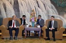 Premier de Vietnam recibe al Mayor de Shanghái