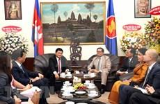Dirigente de Ciudad Ho Chi Minh felicita  65 aniversario de la independencia de Camboya