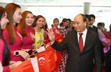 Premier vietnamita llega a Singapur para Cumbre de ASEAN