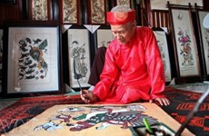 Invertirán millones de dólares para preservar pinturas folclóricas de Dong Ho