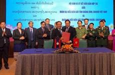 Provincias vietnamita y laosiana fortalecen cooperación en defensa-seguridad fronteriza