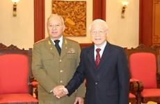 Máximo dirigente de Vietnam compromete apoyo a lazos de defensa con Cuba