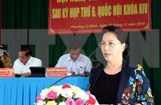 Presidenta del Parlamento de Vietnam se reúne con votantes de ciudad de Can Tho