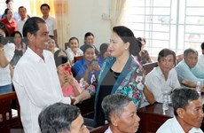 Presidenta del Parlamento de Vietnam llama a la población a opinar sobre Ley de Cooperativas