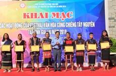 Inauguran Festival de la Cultura de Gongs de Tay Nguyen