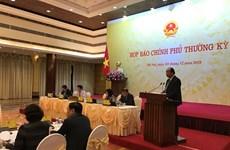 Asuntos de gran interés público se aclaran en rueda de prensa gubernamental de Vietnam