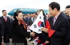 Presidenta del Parlamento de Vietnam inicia visita oficial a Corea del Sur