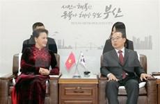 Prensa surcoreana evalúa altamente visita de presidenta del Parlamento vietnamita