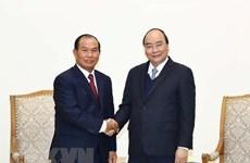Premier vietnamita recibe al ministro de Justicia de Laos