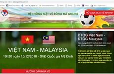 Detectan sitio web falso vendiendo entradas finales de AFF Suzuki Cup