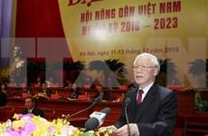 Máximo dirigente político de Vietnam resalta papel de agricultores