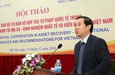 Debate en Vietnam cooperación en recuperación de activos derivados del delito