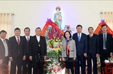 Representantes del Partido y Gobierno de Vietnam felicitan a comunidad católica por Navidad 2018
