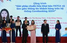 Entregan premios a 28 obras innovadoras de jóvenes vietnamitas