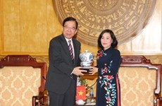 Delegación del Partido Comunista de Japón visita la provincia vietnamita de Ninh Binh