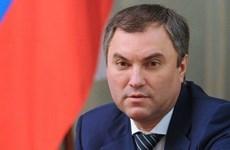 Presidente de la Duma Estatal de Rusia inicia una visita oficial a Vietnam