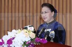 Presidenta del Parlamento de Vietnam llama a establecer más acuerdos de asistencia legal