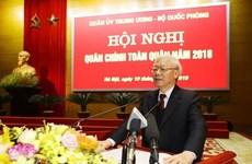 Dirigente de Vietnam insta al Ejército a mantener firme la soberanía nacional