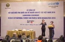 Personas con discapacidad representan siete por ciento de la población en Vietnam