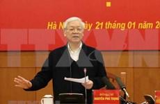 Insta máximo dirigente vietnamita a fortalecer el marco legal anticorrupción