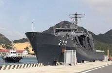 Inicia visita a Vietnam buque de las Fuerzas Navales de Singapur