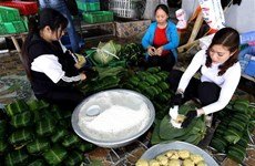 La llegada del Tet despierta recuerdos sobre el banh chung de Cau Bang