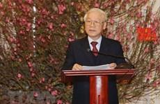 Resalta máximo dirigente vietnamita logros socioeconómicos en 2018