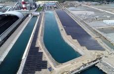Conectada al sistema nacional planta de energía solar en Binh Thuan