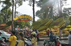 Inauguran festival  de artes florales de Vietnam en Ciudad Ho Chi Minh