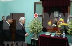 Máximo dirigente político de Vietnam rindió tributo al Presidente Ho Chi Minh