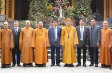 Felicitan autoridades de Hanoi a Sangha Budista de Vietnam por el Tet 2019